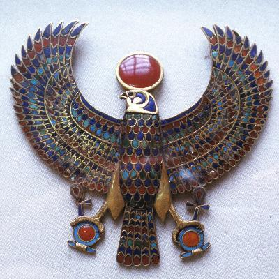 Pectoral Jewel from the Treasure of Tutankhamun, Ancient Egyptian, C1325 Bc--Photographic Print