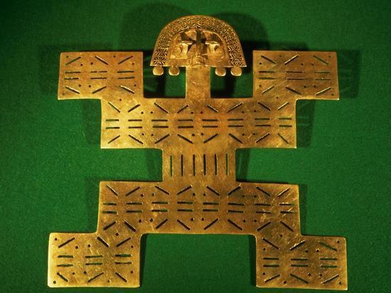 Pectoral Ornament of the Tolima Region, Colombia, circa 500-1500 AD--Giclee Print