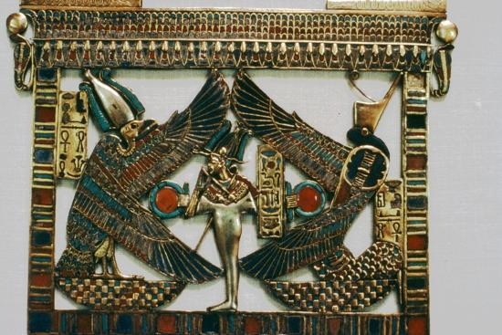 Pectoral Plaque from the Tomb of Tutakhamun, New Kingdom, c1332BC-1323 BC-Unknown-Giclee Print