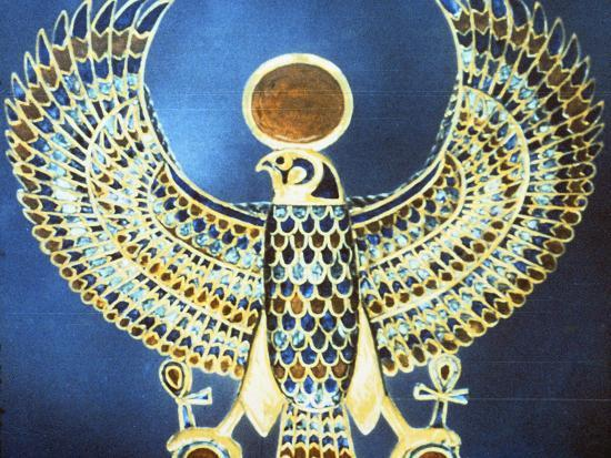 Pectoral Showing the God Horus, Ancient Egyptian, 18th Dynasty, C1325 Bc--Photographic Print