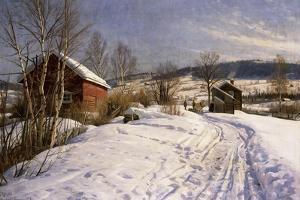 A Winter Landscape, Lillehammer, 1922 by Peder Mork Monsted