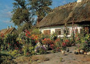 Cottage Garden by Peder Mork Monsted
