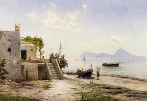 From Sorrento, Towards Capri by Peder Mork Monsted