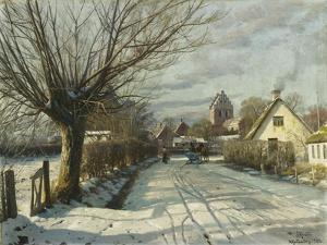 Hoje Taastrup Church, Outside Copenhagen, 1922 by Peder Mork Monsted