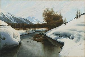 Near La Punt, St. Morritz in the Engadine Valley by Peder Mork Monsted