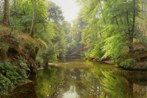 The Quiet River, 1913 by Peder Mork Monsted