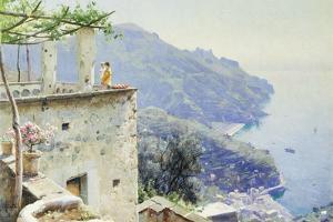 The Ravello Coastline, 1926 by Peder Mork Monsted