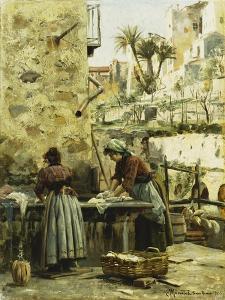 The Washerwomen by Peder Mork Monsted