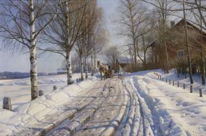 Winter Scene, Dalarne by Peder Mork Monsted