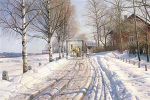 Winter Scene by Peder Mork Monsted