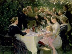 Hip Hip Hurrah! Artists' Party at Skagen, 1888 by Peder Severin Kr?yer