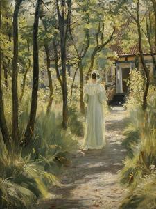 Marie in the Garden, 1895 by Peder Severin Kr?yer