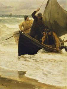 Fisherman Returning Home, Skagen, 1885 by Peder Severin Kröyer