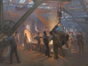 Burmeister and Wain Iron Foundry 1885 by Peder Severin Kroyer
