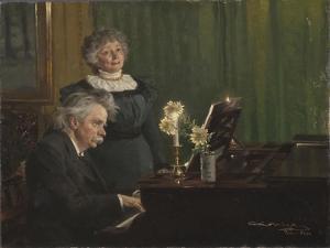 Edvard Grieg and Nina Grieg, 1898 by Peder Severin Kroyer