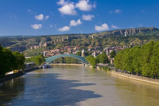 Pedestrian Bridge of Peace over Kura River Designed by Michele De Lucchi in Tbilisi, Georgia-Michael Runkel-Photographic Print
