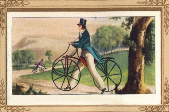 'Pedestrian Hobby-Horse', 1819, (1939)-Unknown-Giclee Print