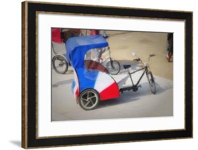 Pedicab In Paris-Cora Niele-Framed Giclee Print