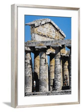 Pediment of Temple of Athena or Ceres--Framed Photographic Print