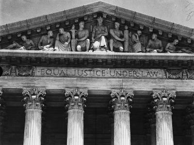 Pediment of the Supreme Court--Photographic Print