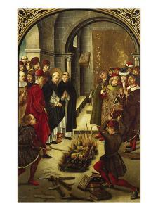 The Trial by Fire (The Burning of the Books or St. Dominic De Guzman and the Albigensians) by Pedro Berruguete