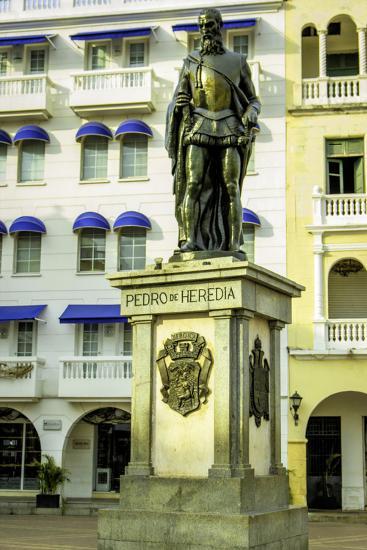 Pedro de Heredia, Plaza de Los Coches, Cartagena, Colombia-Jerry Ginsberg-Photographic Print