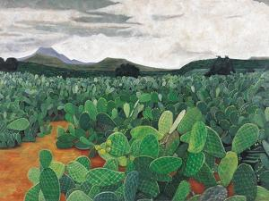 Patch of Prickly Pears on the Way to Tulancingo (Cloudy Sky) 2004 by Pedro Diego Alvarado
