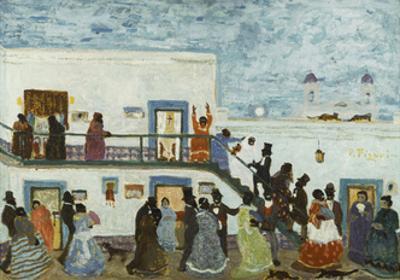Arriving to Church; Llegando De La Iglesia by Pedro Figari