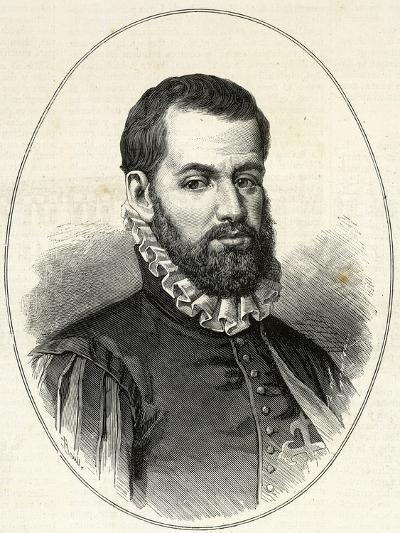 Pedro Menendez De Aviles (1519-1574). Engraving.-Tarker-Photographic Print