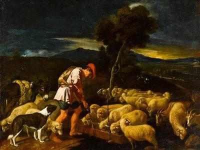 Jacob Watering Laban's Sheep before Peeled Branches, c.1612-1622