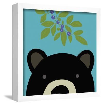 Peek-a-Boo Bear-Yuko Lau-Framed Art Print