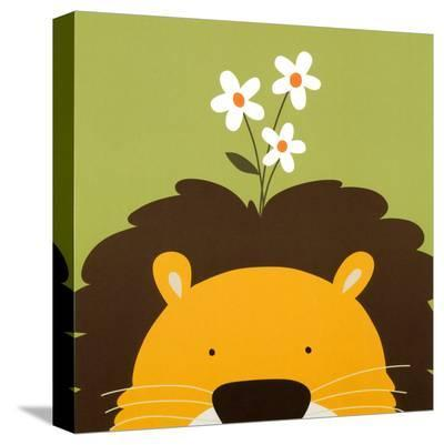 Peek-a-Boo IX, Lion-Yuko Lau-Stretched Canvas Print