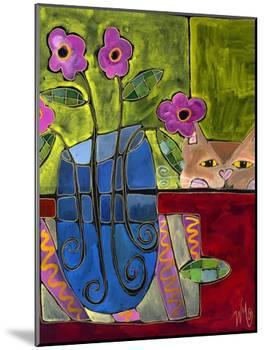 Peek a Boo Kitty Cat-Wyanne-Mounted Giclee Print