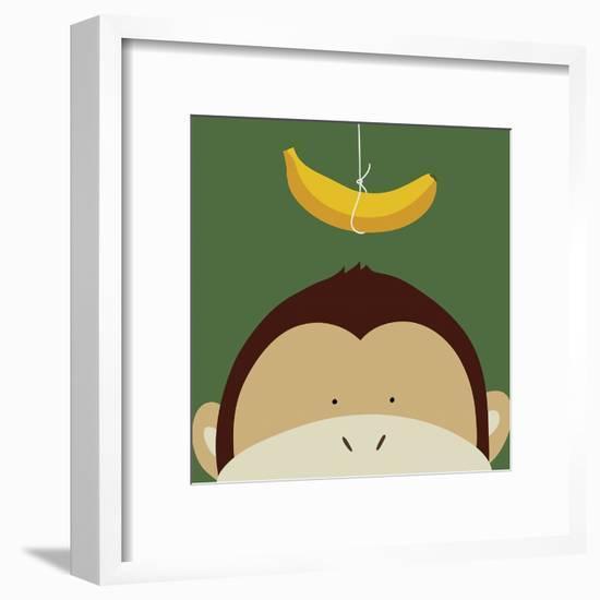 Peek-a-Boo Monkey-Yuko Lau-Framed Art Print