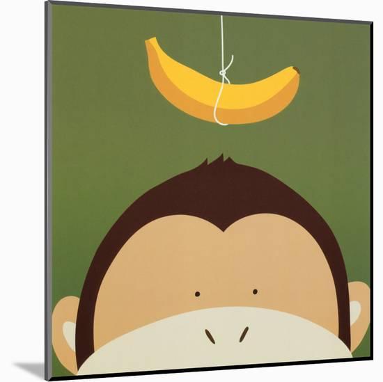 Peek-a-Boo X, Monkey-Yuko Lau-Mounted Art Print