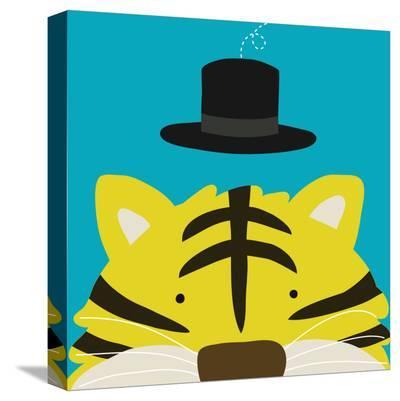 Peek-a-Boo XI, Tiger-Yuko Lau-Stretched Canvas Print