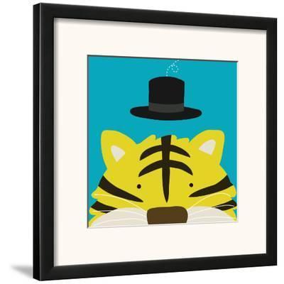 Peek-a-Boo XI, Tiger-Yuko Lau-Framed Art Print