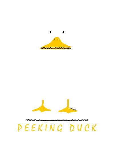 Peeking Duck-Leo Posillico-Art Print