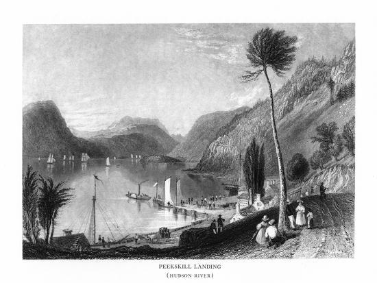 Peekskill, New York, View of the Hudson River from Peekskill Landing-Lantern Press-Art Print