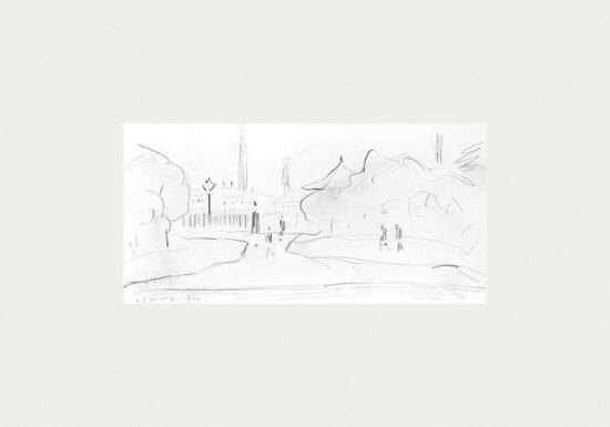Peel Park Sketch III, 1920-Laurence Stephen Lowry-Premium Giclee Print