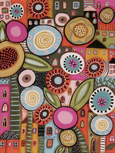 Peeping Houses 1-Karla Gerard-Giclee Print