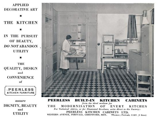 'Peerless Built-In Kitchen Cabinets', 1935-Unknown-Photographic Print