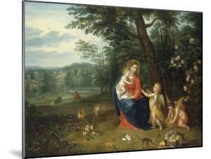 The Virgin and Child with Angels by Peeter van Avont