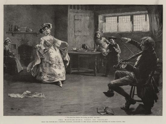 Peg Woffington's Visit to Triplet-Charles MacIvor Grierson-Giclee Print