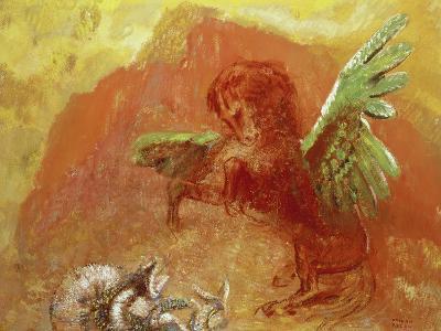 Pegasus Triumphant, 1905-Odilon Redon-Giclee Print