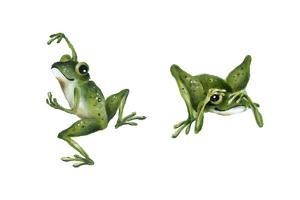April Showers - Frogs by Peggy Harris