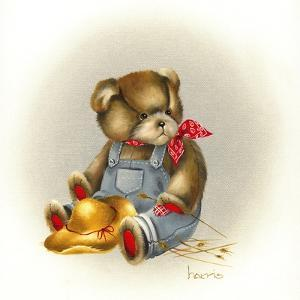 Country Teddy by Peggy Harris