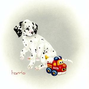 Dalmation 1 - Puppy Truck by Peggy Harris