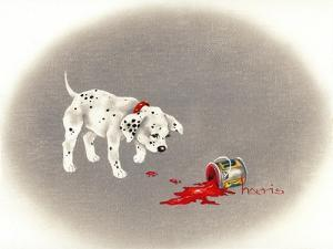Dalmation 6- Caught Red Pawed by Peggy Harris