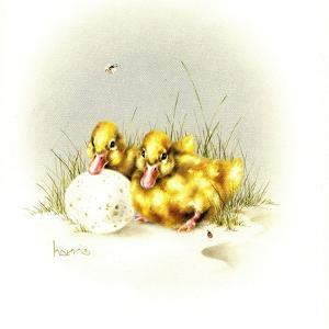 Ducks and Egg by Peggy Harris